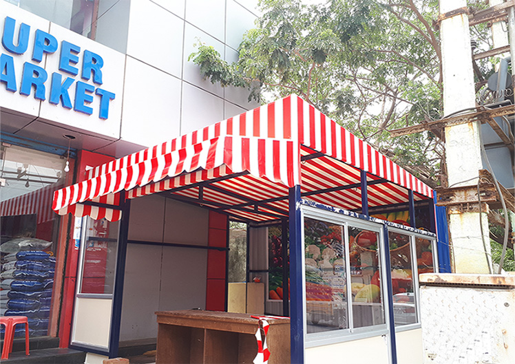 STRIPED AWNING